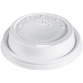"Pokrywka Plastikowe PS ""Cappuccino"" Białe Ø8,1cm (100 Sztuk)"