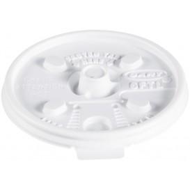 Pokrywka Podwójna Plomba Plastikowe PS Białe Ø7,4cm (1000 Sztuk)