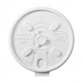 Pokrywka Podwójna Plomba Plastikowe PS Białe Ø8,1cm (100 Sztuk)