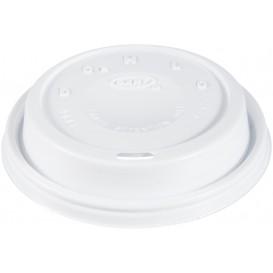 "Pokrywka Plastikowe PS ""Cappuccino"" Białe Ø9,4cm (100 Sztuk)"
