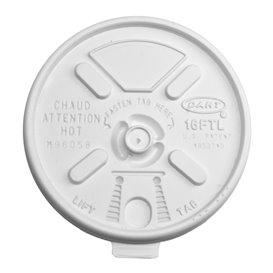 Pokrywka Podwójna Plomba Plastikowe PS Białe Ø9,4cm (100 Sztuk)