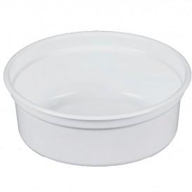 """Pojemniki Plastikowe PP """"Deli"""" 8Oz/266ml Białe Ø120mm (25 Sztuk)"""