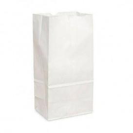 Torby Papierowe bez Uchwytów Kraft Białe 12+8x24cm (25 Sztuk)
