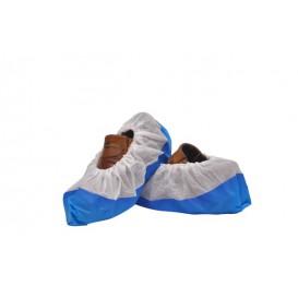 Ochraniacze na buty TST PP Białe z Podeszwa Uszczelniona CPE Niebieski (500 Sztuk)