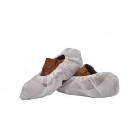 Ochraniacze na buty TST PP Białe z Podeszwa Uszczelniona CPE Białe (50 Sztuk)
