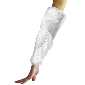 Rękawy Ochronne Polietylenowe 18x44cm G80 Białe (100 Sztuk)