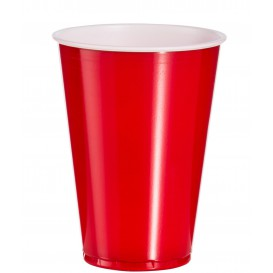Kubki Plastikowe Czerwone Amerykanin na Imprezę 10 Oz/300ml (100 Sztuk)