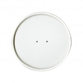 Wieczko Płaskie Papierowe Białe Ø9,1cm (25 Sztuk)