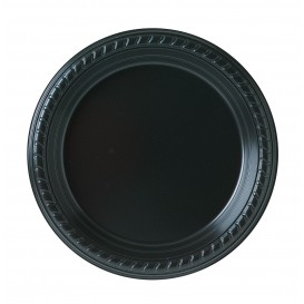 Talerz Plastikowe Party PS Płaski Czarni Ø180mm (500 Sztuk)