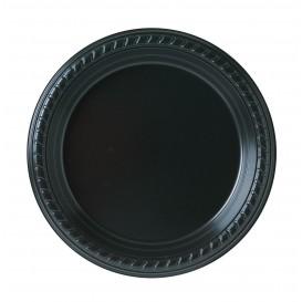 Talerz Plastikowe Party PS Płaski Czarni Ø180mm (25 Sztuk)