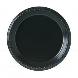 Talerz Plastikowe Party PS Płaski Czarni Ø230mm (25 Sztuk)