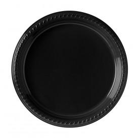 Talerz Plastikowe Party PS Płaski Czarni Ø260mm (25 Sztuk)