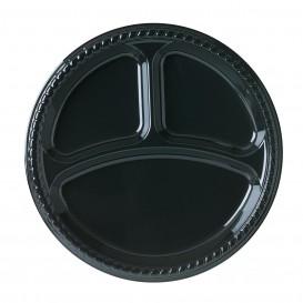 Talerz Plastikowe Party PS Płaski Czarni 3C Ø260mm (25 Sztuk)