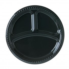 Talerz Plastikowe Party PS Płaski Czarni 3C Ø260mm (500 Sztuk)