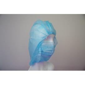 Czepek Integralny Polipropylen Niebieski (50 Sztuk)