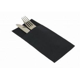 Pocket Fold Paper Airlaid Napkins Kanguro Black 33x40cm (30 Units)