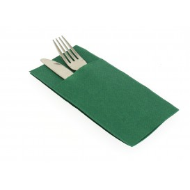 "Pocket Fold Airlaid Napkins ""Kanguro"" Green 40x40cm (30 Units)"