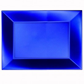 Tacki Plastikowe Niebieski Nice Pearl PP 345x230mm (60 Sztuk)