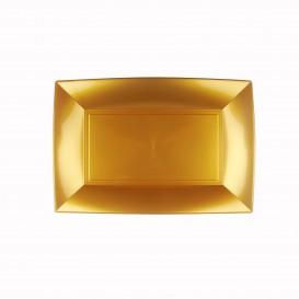 Tacki Plastikowe Złote Nice PP 280x190mm (12 Sztuk)
