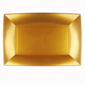 Tacki Plastikowe Złote Nice PP 345x230mm (6 Sztuk)