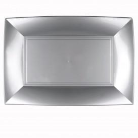 Tacki Plastikowe Szare Nice PP 345x230mm (6 Sztuk)