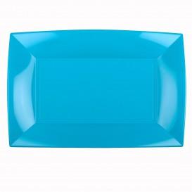 Tacki Plastikowe Turkusowe Nice PP 345x230mm (60 Sztuk)