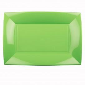 Tacki Plastikowe Zielony Limonka Nice PP 345x230mm (60 Sztuk)
