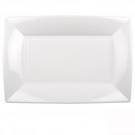 Tacki Plastikowe Białe Nice PP 345x230mm (60 Sztuk)