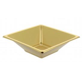 Miski Plastikowe PS Kwadratowi Złote 12x12cm (25 Sztuk)