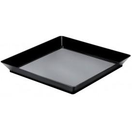Tacki do Degustacji Medium Czarni 13x13 cm (12 Sztuk)