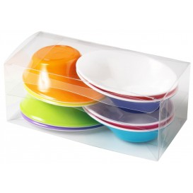 "Plastic Bowl PS ""Sodo"" White and Multicolor 50 ml (160 Units)"