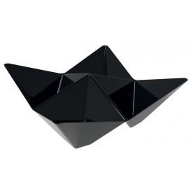 "Tasting Plastic Bowl PS ""Origami"" Black 10,3x10,3cm (25 Units)"