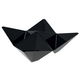 "Tasting Plastic Bowl PS ""Origami"" Black 10,3x10,3cm (500 Units)"