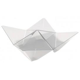"Tasting Plastic Bowl PS ""Origami"" Clear 10,3x10,3cm (500 Units)"