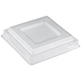 Plastic Lid for Tasting Bowl PS Square shape Dessert Clear PET 90 ml (1000 Units)