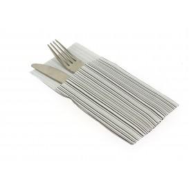 "Pocket Fold Paper Napkins ""Basic"" Black 40x40cm (30 Units)"