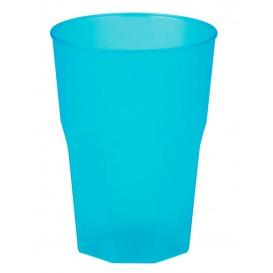 "Vaso de Plastico ""Frost"" Turquesa PP 350ml (20 Uds)"