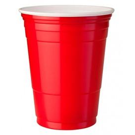 Kubki Plastikowe Czerwone Amerykanin na Imprezę 360ml (50 Sztuk)