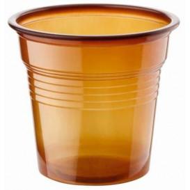Vaso de Plastico PS Marrón 80ml Ø5,7cm (2400 Uds)