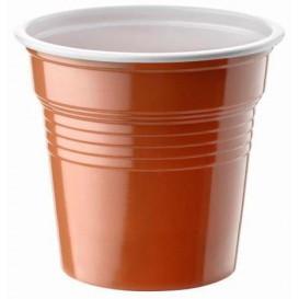 Vaso de Plastico PS Bicolor Marrón 80ml Ø5,7cm (50 Uds)
