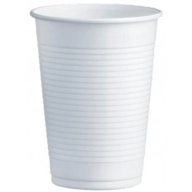 Kubki Plastikowe PS Białe 230ml Ø7,0cm (100 Sztuk)