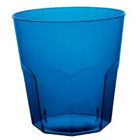 Kubki Plastikowe Niebieski Przezroczyste PS Ø73mm 220ml (50 Sztuk)