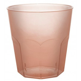 Vaso Plastico Marron Transp. PS Ø73mm 220ml (500 Uds)