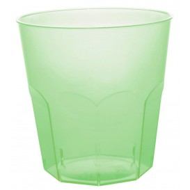 Kubki Plastikowe Zielony Limonka Przezroczyste PS Ø73mm 220ml (1000 Sztuk)