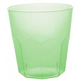 Kubki Plastikowe Zielony Limonka Przezroczyste PS Ø73mm 220ml (50 Sztuk)