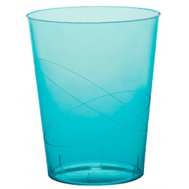Vaso de Plastico Moon Turquesa Transp. PS 350ml (20 Uds)