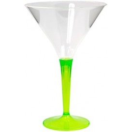 Kieliszki Plastikowe Koktajl na Podstawie Zielone 100 ml (6 Sztuk)