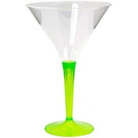 Kieliszki Plastikowe Koktajl na Podstawie Zielone 100 ml (48 Sztuk)