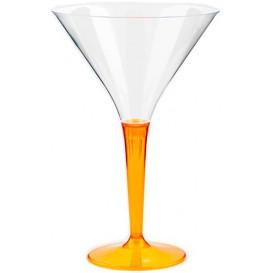 Kieliszki Plastikowe Koktajl na Podstawie Orange 100 ml (6 Sztuk)