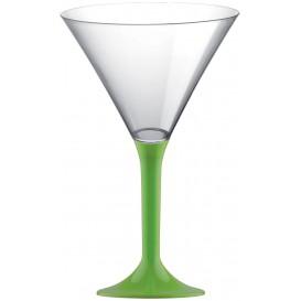 Kieliszki Plastikowe Koktajl na Podstawie Zielony Limonka 185ml 2P (20 Sztuk)